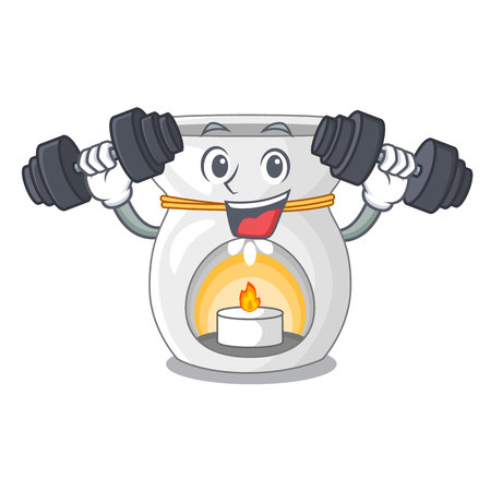 Fitness aroma lamp in a cartoon versions vector illustration
