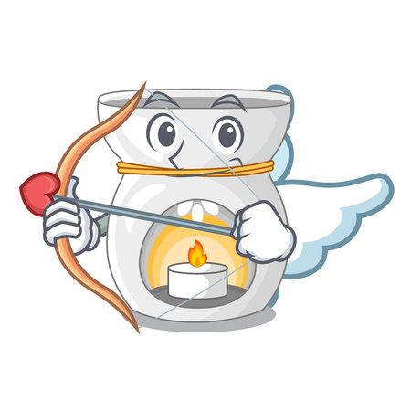 Cupid aroma lamp in a cartoon versions vector illustration Illustration