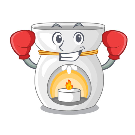 Boxing aroma lamp in a cartoon versions vector illustration