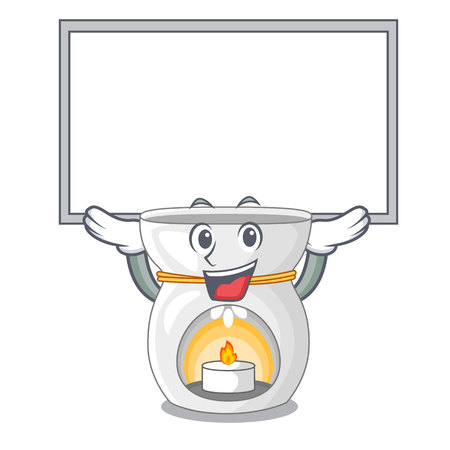 Up board aroma lamp in a cartoon versions vector illustration