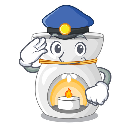 Police aroma lamp in a cartoon versions vector illustration