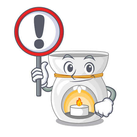 With sign aroma lamp in a cartoon versions vector illustration