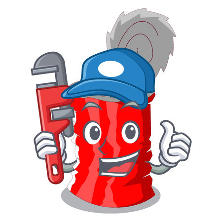 Plumber tincan ribbed metal character a canned vector illustration Vettoriali