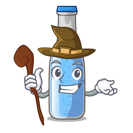 Witch glass of soda water on character vector illustration Ilustração