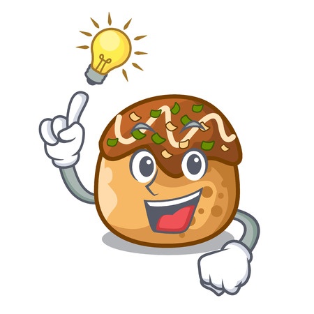 Have an idea takoyaki shape in balls a cartoon vector illustration 일러스트
