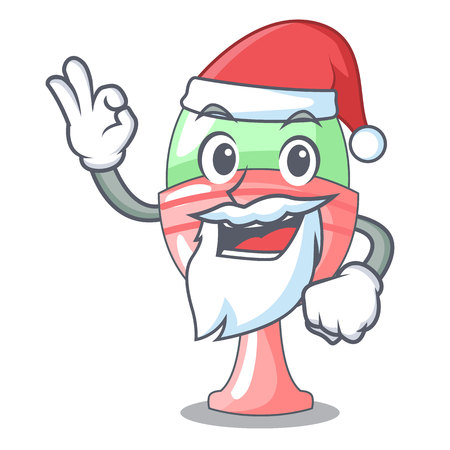 Santa in egg cup isolated on character vector illustration