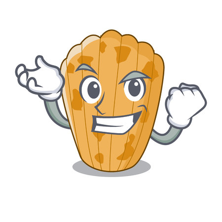 Successful cake madeleine french isolated on mascot vector illustration Illustration