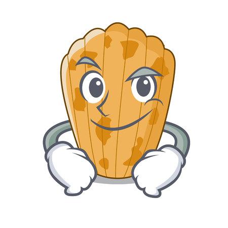 Smirking cake madeleine french isolated on mascot vector illustration  イラスト・ベクター素材