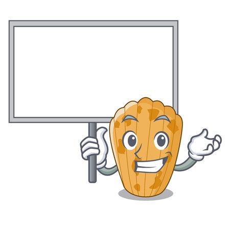 Bring board cookies in the form madeleine cartoon