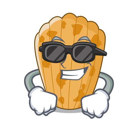 Super cool cake madeleine french isolated on mascot vector illustration  イラスト・ベクター素材