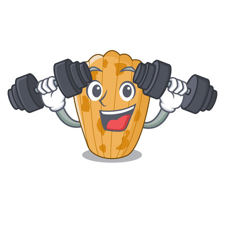 Fitness cookies in the form madeleine cartoon