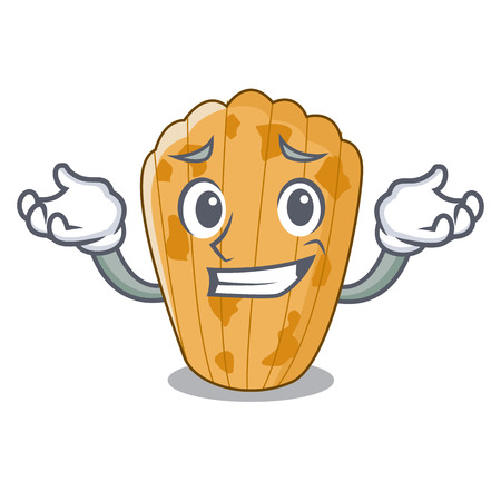Grinning cake madeleine french isolated on mascot vector illustration  イラスト・ベクター素材