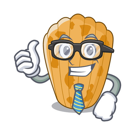 Businessman cake madeleine french isolated on mascot vector illustration
