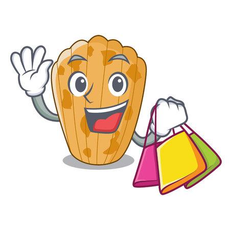 Shopping cake madeleine french isolated on mascot vector illustration  イラスト・ベクター素材