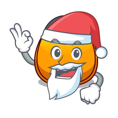 Santa hobo bag shape on a cartoon vector illustration 免版税图像 - 126959016