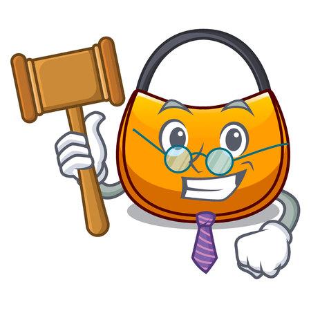 Judge hobo bag shape on a cartoon vector illustration