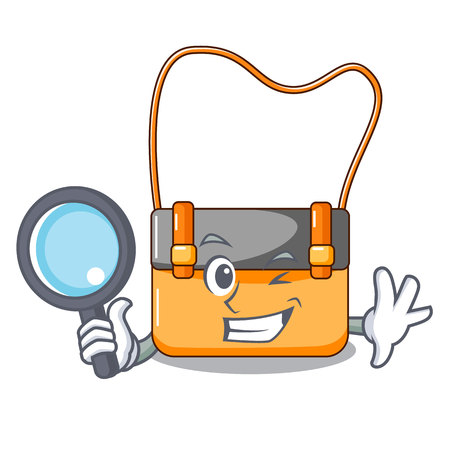 Detective bag messenger businessman the leather character