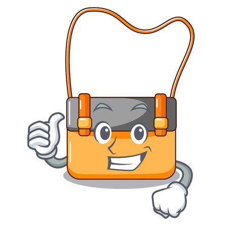 Thumbs up bag messenger businessman the leather character