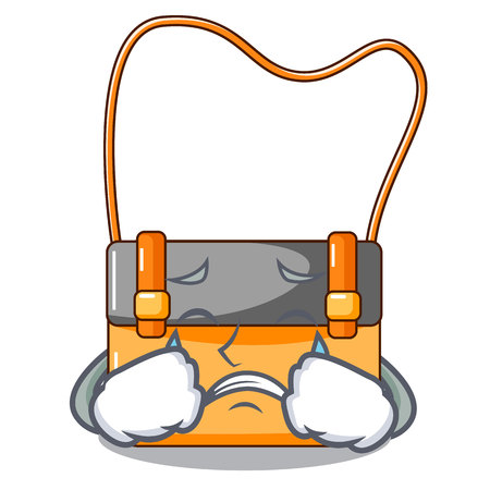 Crying menesseger bag color on a cartoon vector illustration Stock Photo