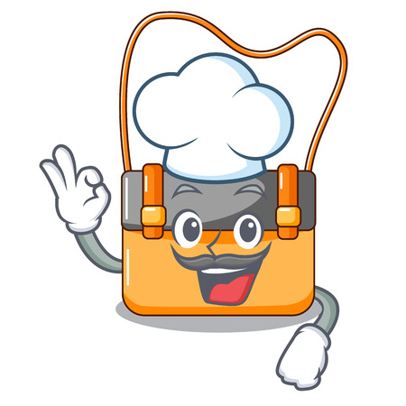 Chef bag messenger businessman the leather character vector illustration Stock Photo