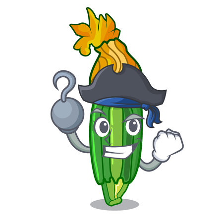 Pirate zucchini flowers obtained by mixing mascot vector illustration Ilustracja