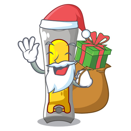 Santa with gift nail cutter isolated on a character vector illustration Illustration