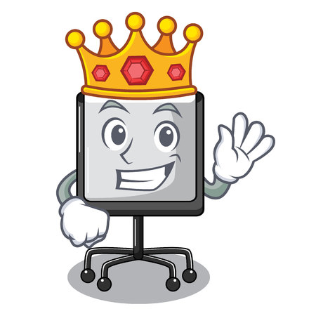 King presentation board Isolated on a mascot vetor illustration  イラスト・ベクター素材