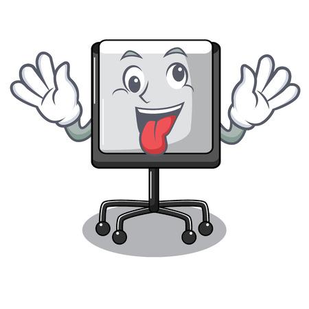Crazy presentation board Isolated on a mascot vetor illustration Illustration