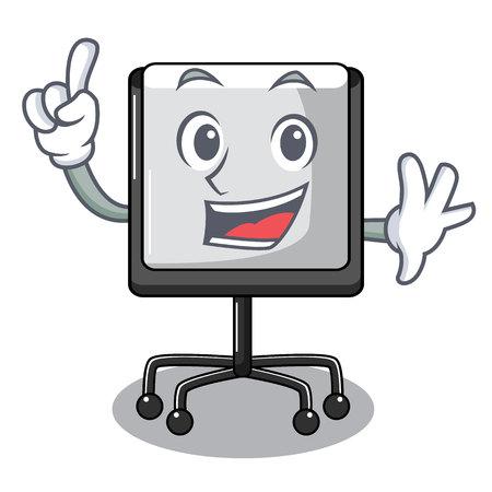 Finger presentation board Isolated on a mascot vetor illustration