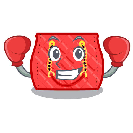 Boxing quilted bag isolated on a mascot vector illustration
