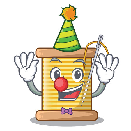 Clown thread spool in a shape cartoon vector illustration Ilustrace