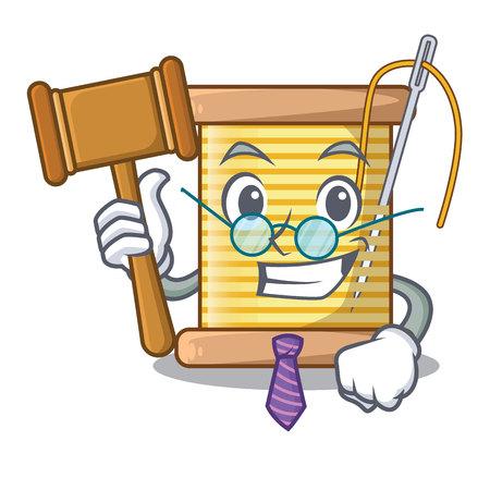 Judge thread spool in a shape cartoon vector illustration