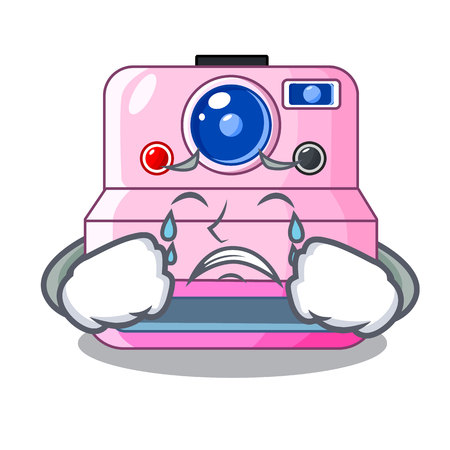 Crying instant camera in a shape character