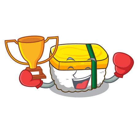 Boxing winner tamago sushi using an egg character