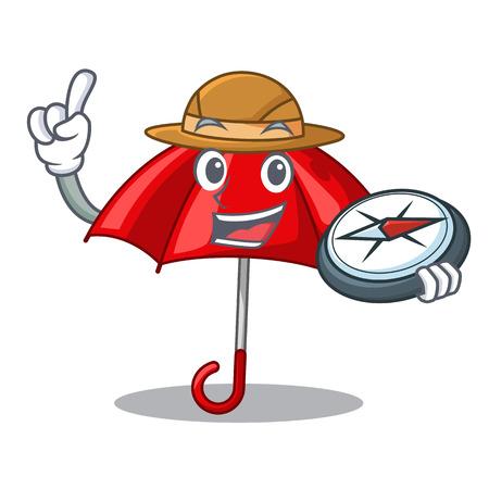 Explorer red umbrella lit up cartoon shape