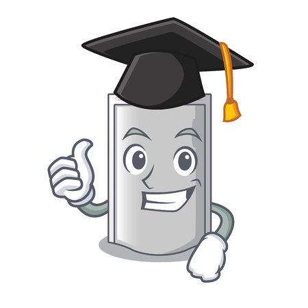 Graduation bag packaging snack on a mascot vector illustration