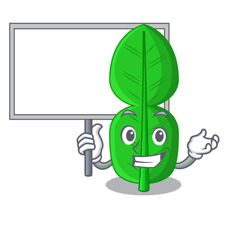 Bring board bergamot lime leaf isolated on mascot vector illustration