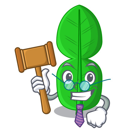 Judge bergamot leaf in cartoon a interrupting vector illustration Ilustração