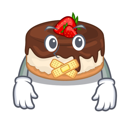 Silent cake berries with cream on mascot
