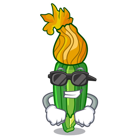 super coolzucchini flowers in shape a cartoon vector illustration