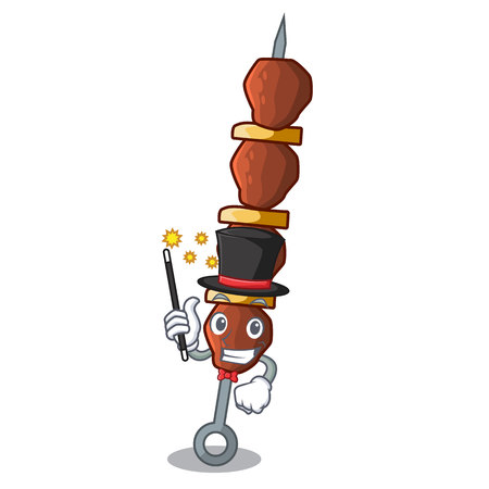 Magician shish chicken isolated on in mascot vector illustration