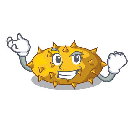Successful fruit Kiwano the isolated on mascot vector illustration