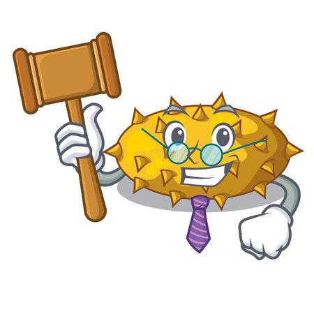 Judge Kiwano fruit isolated on a character vector illustration Illustration