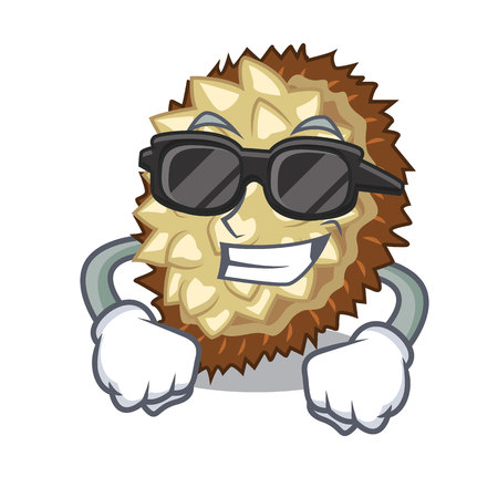 super cool marang fruit in shape a cartoon vector illustration  イラスト・ベクター素材