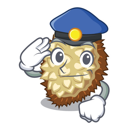 Police marang fruit isolated on a cartoon vector illustration