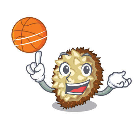 With basketball marang fruit isolated on a cartoon vector illustration  イラスト・ベクター素材