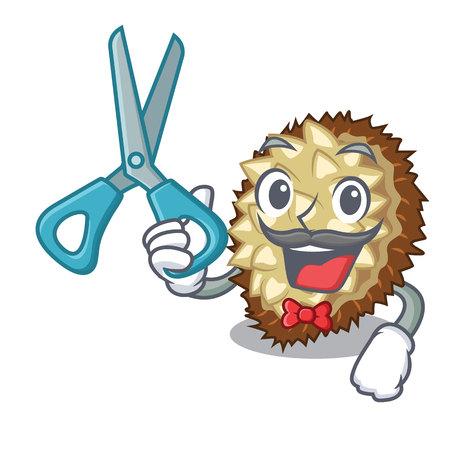 Barber marang fruit isolated on a cartoon vector illustration