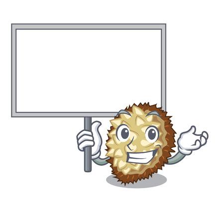 Bring board marang fruit isolated on a cartoon vector illustration Illustration