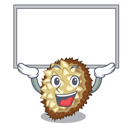 Up board marang fruit isolated on a cartoon vector illustration