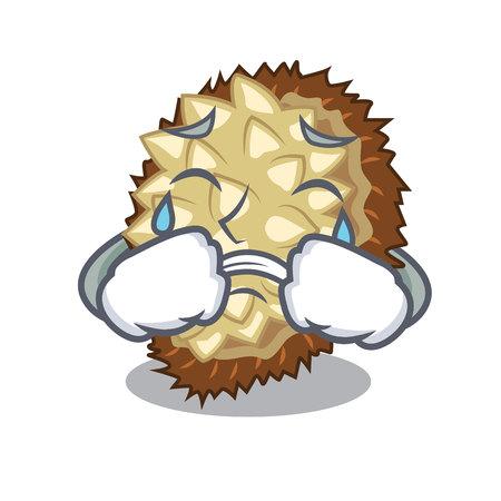 Crying juicy marang fruit in glas character vector illustration